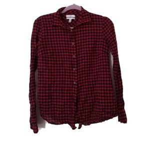J Crew red and blue buffalo check boy fit size 0